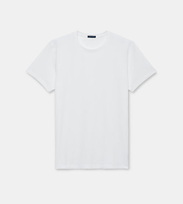 PATRICK ASSARAF Stretch Crew-Neck T-Shirt - White