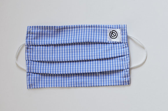 Easy Mask Pleated - Blue Gingham