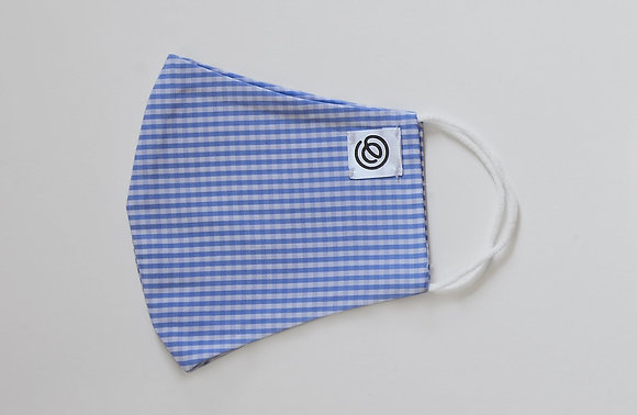 Easy Mask Full Face - Blue Gingham