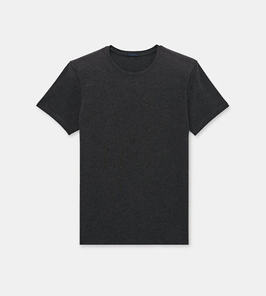 PATRICK ASSARAF Stretch Crew-Neck T-Shirt - Charcoal