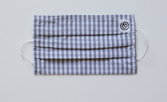 Easy Mask Pleated - Grey Gingham