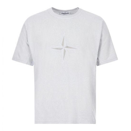 STONE ISLAND Oversized Embroidered Logo T-Shirt
