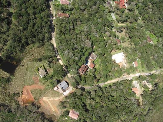 Imagem de um voo realizado a 80 metros - drone