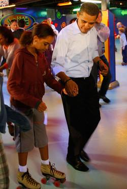 President Obama wit Daughter