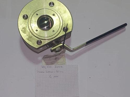 Valvola a sfera in Inox tipo wafer Ø50mm