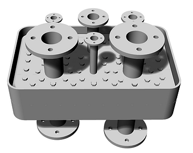multiple exhaust gas pipe passage fittings