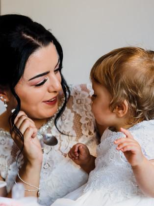Bride & Daughter