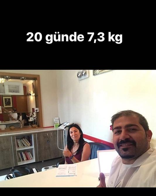 20 günde 7,3 kg verdik #hiç bu kiloları