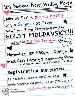 Flyer for Library Event