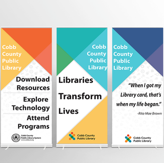 Banners for Cobb County Library