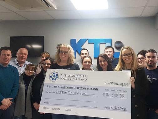 KTL raises €14,000 for Alzheimer Society of Ireland charity