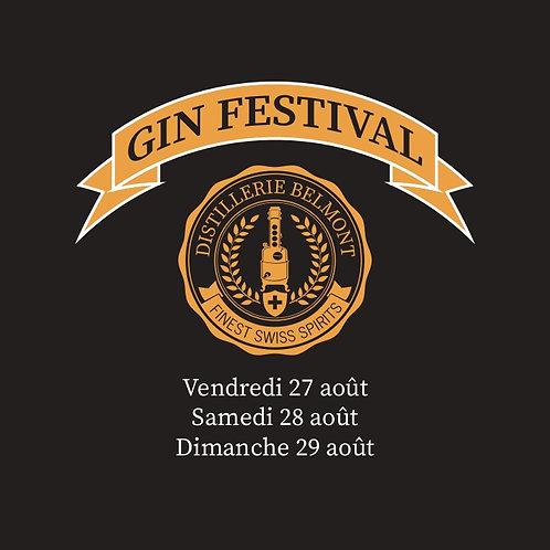 TICKET GIN FESTIVAL 29 AOÛT 2021