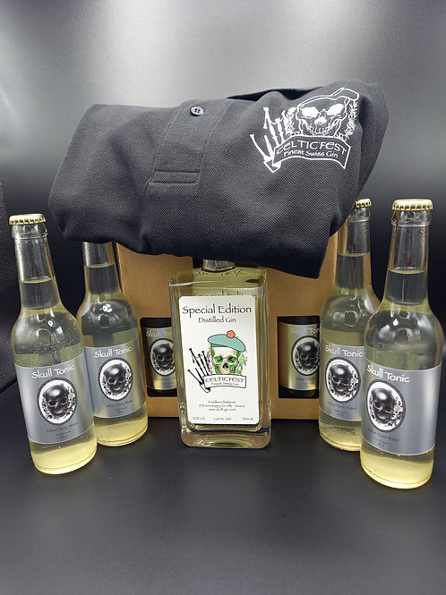 BOX CELTIC GIN - SPECIAL EDITION mit SKULL TONIC und T-SHIRT