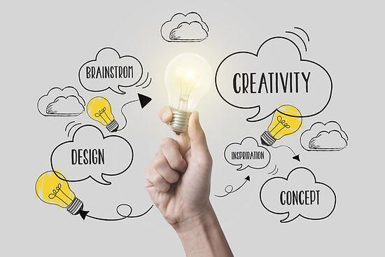 business hand holding lightbulb. concept
