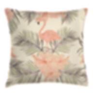 Flamingo Print Pillow