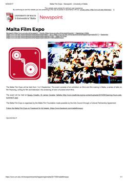 Malta-Film-Expo---Newspoint---University-of-Malta