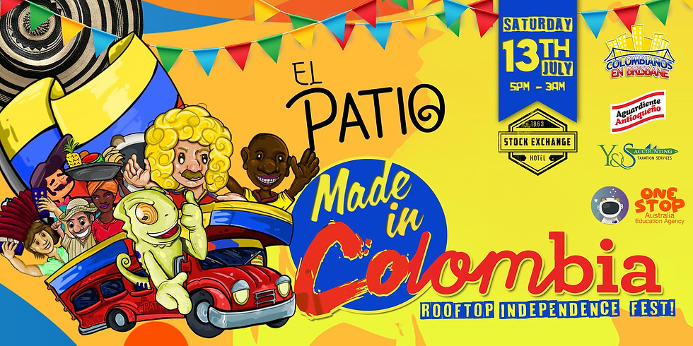 EL PATIO // Made In Colombia - Rooftop Independence Fest!