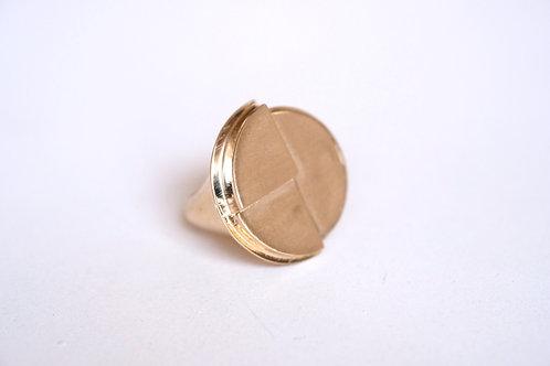 Geometric Platform Ring (Size 8)
