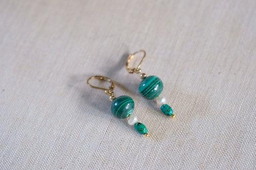 Malachite & Small Pearl