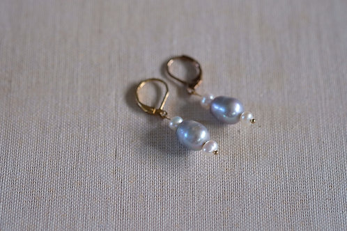 Grey & White Pearls