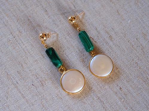 Malachite & Coin Pearl