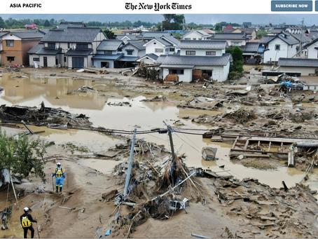ニューヨークタイムズが報じたTyphoon Hagibis(台風19号)