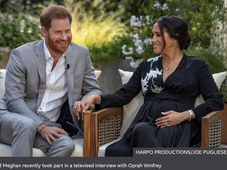 英語の記事を毎週読むのが英語上達に役立つ  英国の王室を離れたメーガン妃のニュースが世界で読まれています
