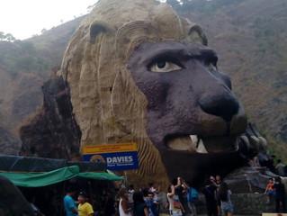 迫力あるライオンヘッド