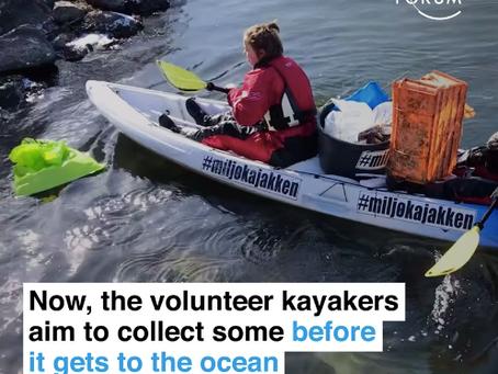 デンマークではカヤックしながら環境保護 Green Kayak's