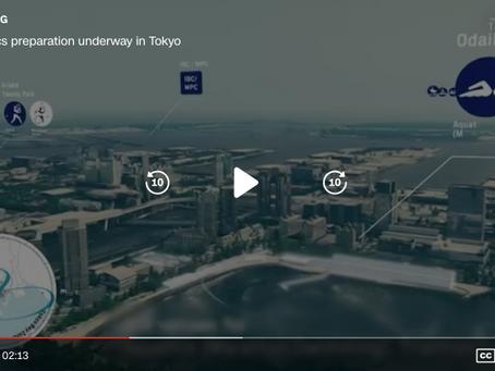 CNNが東京オリンピックの最後の準備をビデオで伝えています