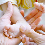 Neugeborene Baby-Fuß