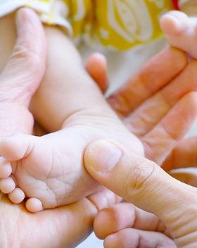 Pie recién nacido del bebé
