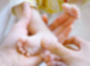 Pasgeboren Voet van de baby