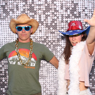Silver Sequin Backdrop for photo booth