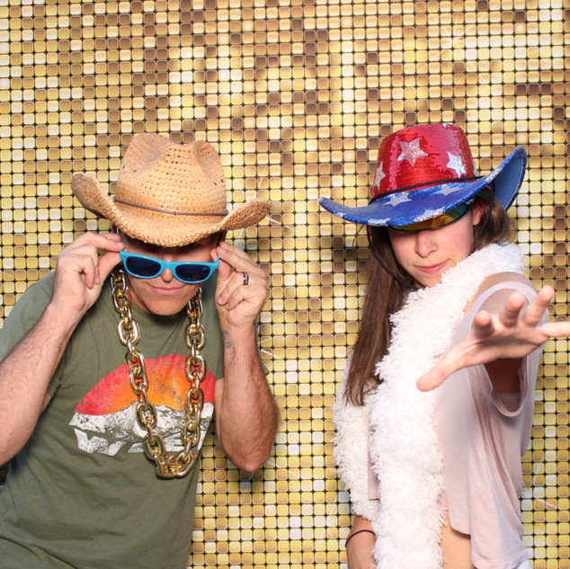 Gold sequin backdrop for photo booth
