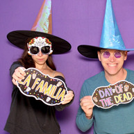 Photo booth for day of the dead or Halloween