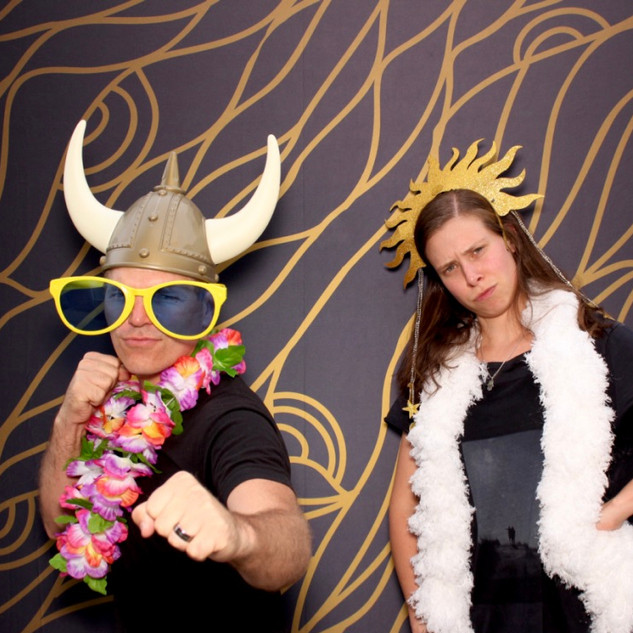 Art backdrop for photo booth