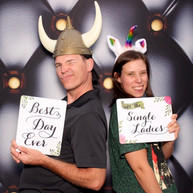 Cool 3-D photo booth backdrop