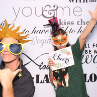 Inspiring words photo booth backdrop