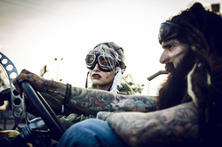 tank girl & booga daze tattoo model