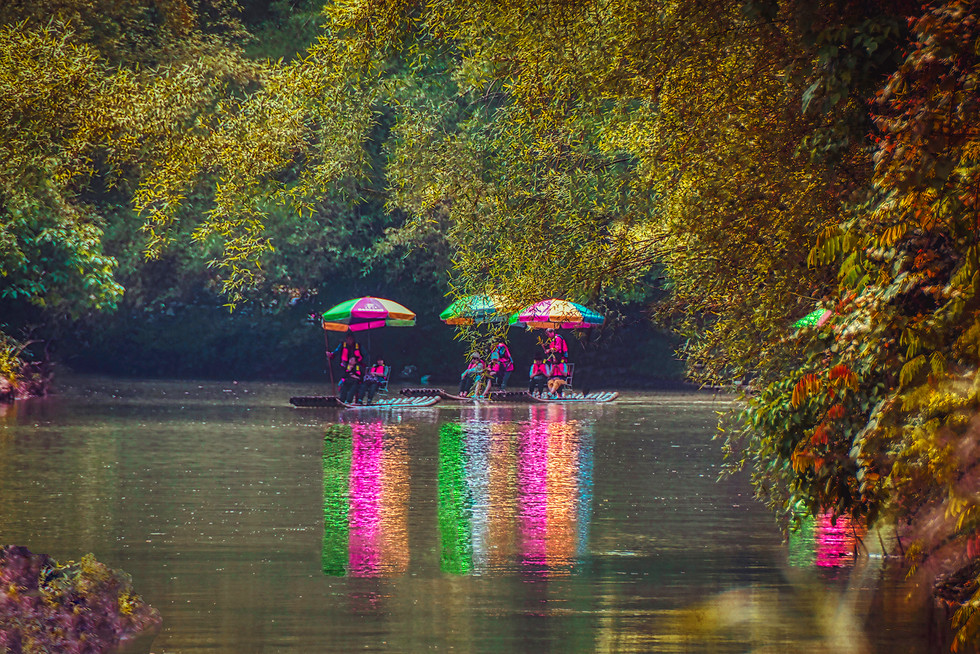 Rafting on the Yulong River, Yangshuo, China
