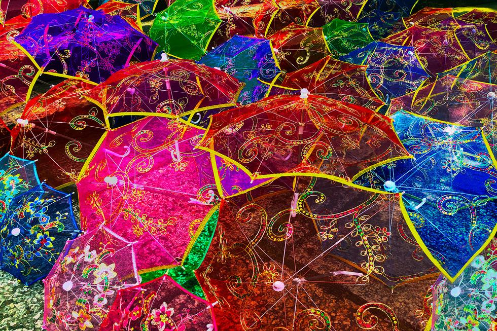 Umbrellas of Yangshuo