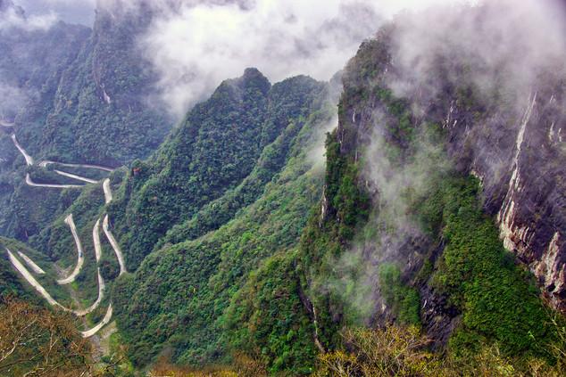 Winding Road, Zhangjiajie, China