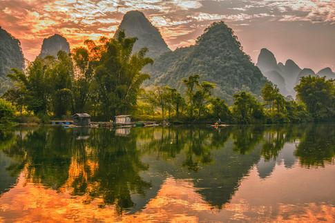 Yulong River Sunset 1