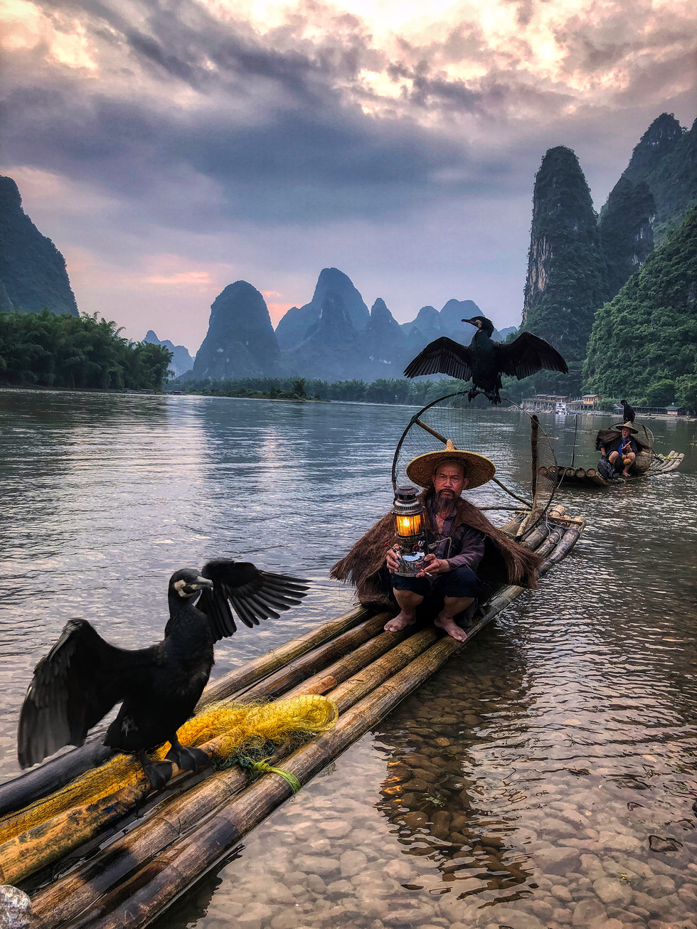 Fisherman at Xingping, China