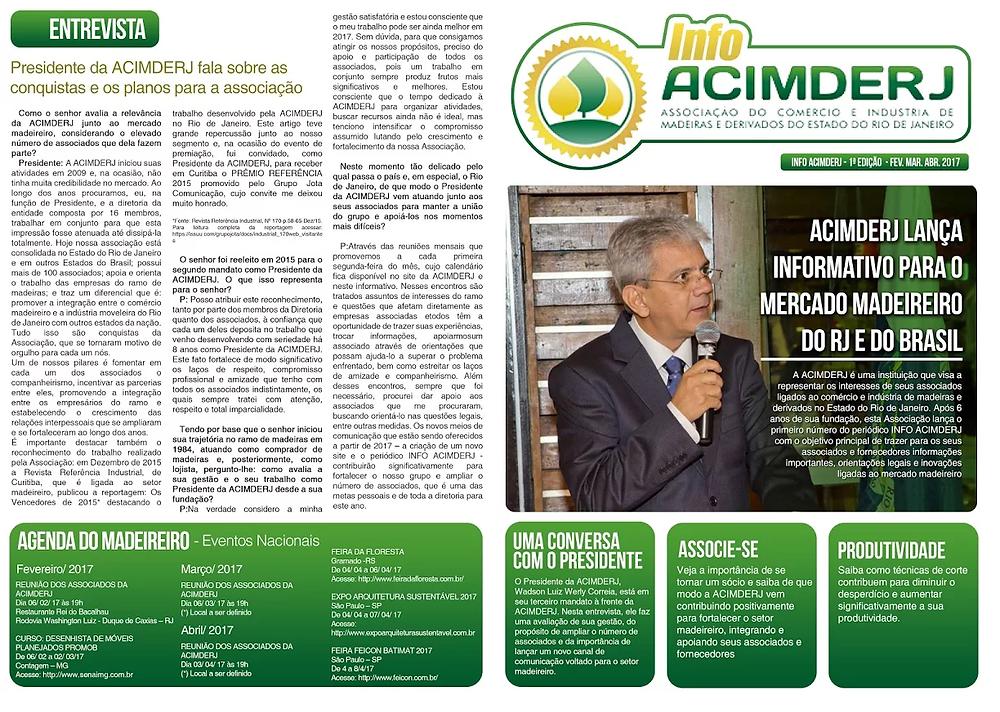 Em fevereiro de 2017, a ACIMDERJ inicia o ano com novas fontes de informações para seus associados.