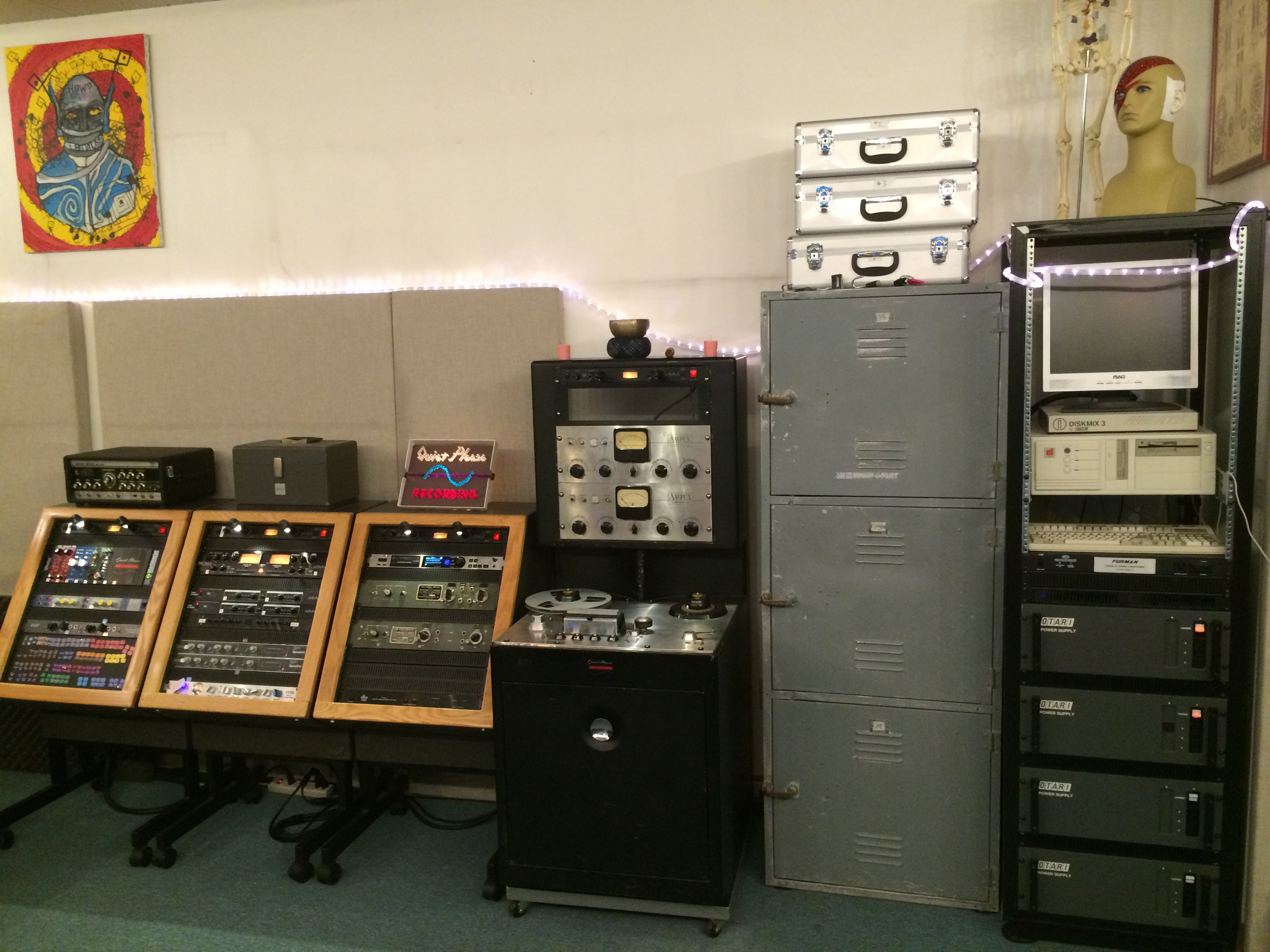 Outboard Gear & Ampex 350.