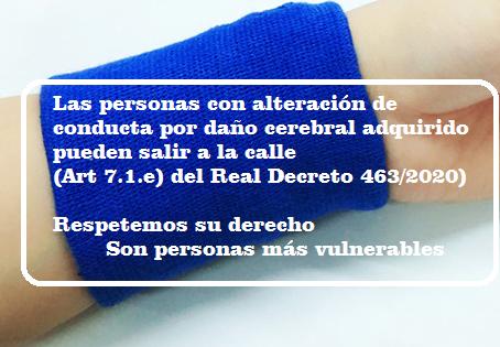 Nos sumamos a la iniciativa del brazalete azul para las personas con daño cerebral adquirido