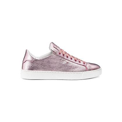 Sneakers Gloria in Pelle Metallizzata Rosa