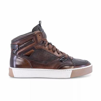 New Sneaker Santoni in pelle Marrone Santoni